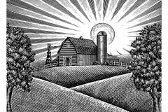 Farm Barn Scene