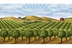 Farm Orchard art