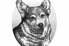 Dog Woodcut