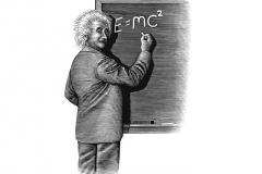 Einstein _amp_ Chalkboard-