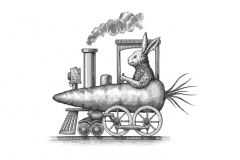 Rabbit-Train-art