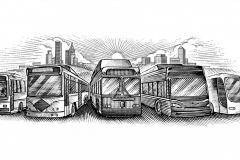 Transportation Buses-art-