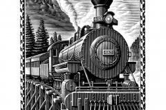 Skunk Train art