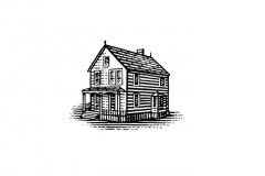 House-woodcut-
