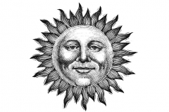 Sun Woodcut