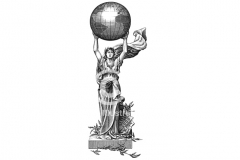 Woman-Globe
