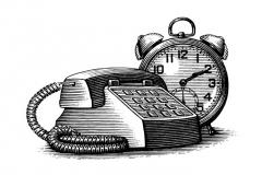 telephone-clock
