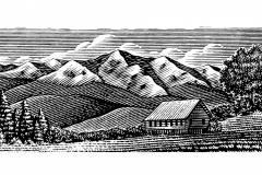 Mountain Scene Cabin