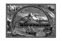 Mountain scene art