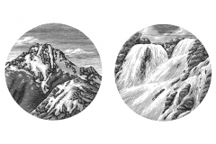 Waterfall-_amp_-Mountains