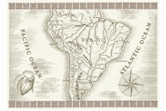 South-America-Map-art