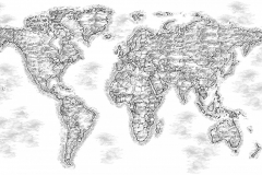 World Map Art 1