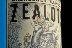 Zealots Heart Gin label