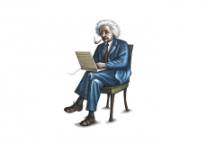 Einstein-with-Laptop