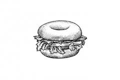 Bagel Sandwich art