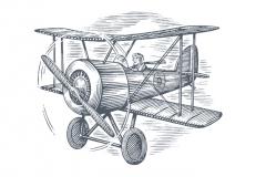 Bi-Plane_Woodcut