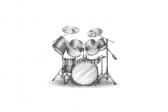 Drum-set-art