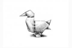 Origami-Duck-art