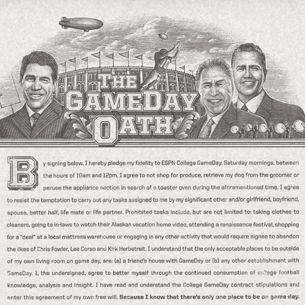 ESPN Game Day Oath