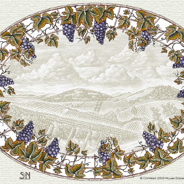 William Sonoma Grape Platter